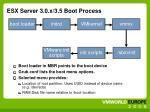 esx server 3 0 x 3 5 boot process