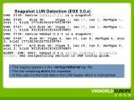 snapshot lun detection esx 3 0 x