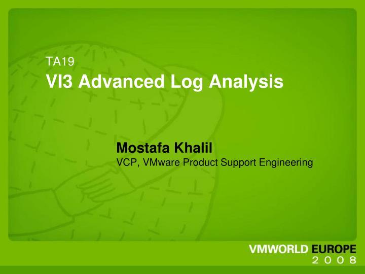 ta19 vi3 advanced log analysis