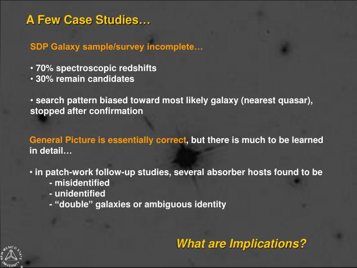 A Few Case Studies…