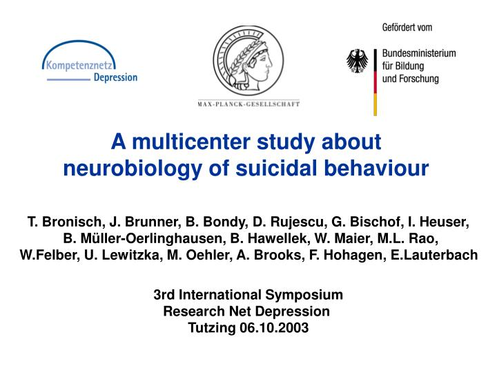 A multicenter study about