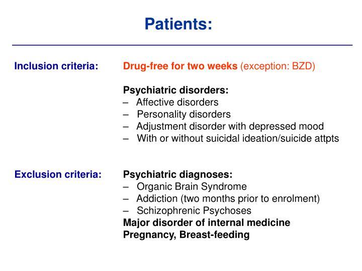 Patients: