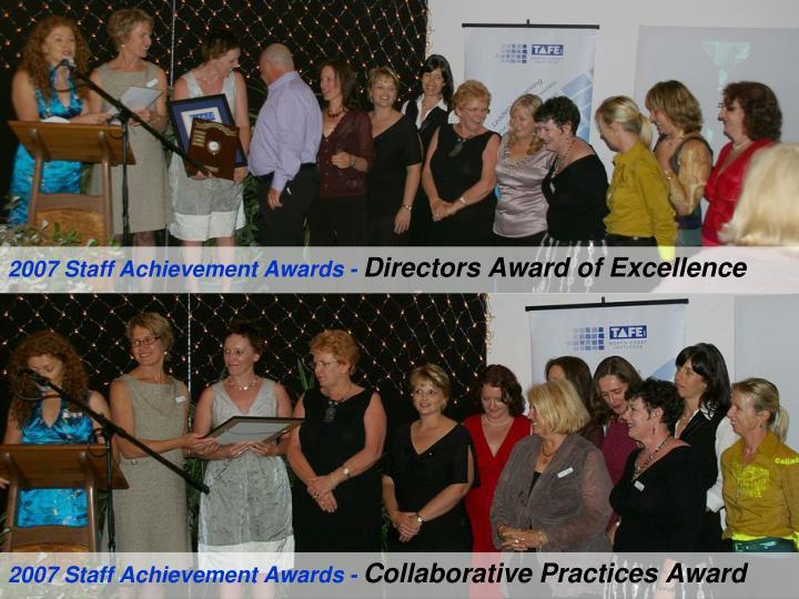 2007 Staff Achievement Awards -