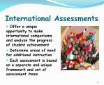 international assessments