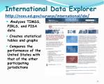international data explorer http nces ed gov surveys international ide