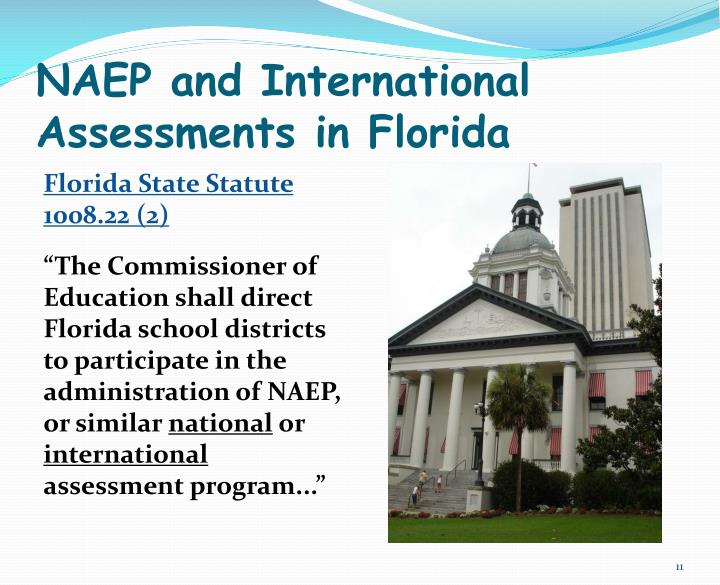 NAEP and International Assessments in Florida