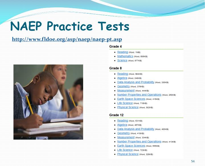 NAEP Practice Tests