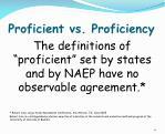 proficient vs proficiency