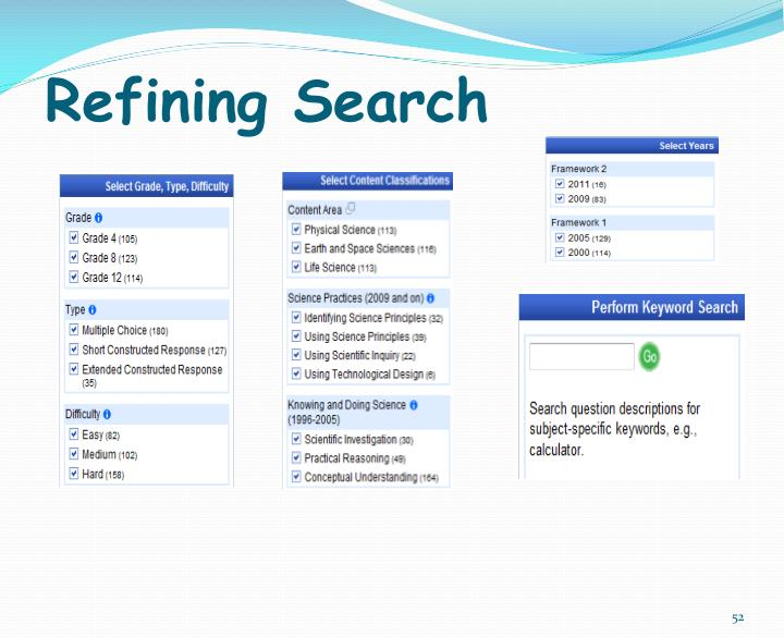 Refining Search