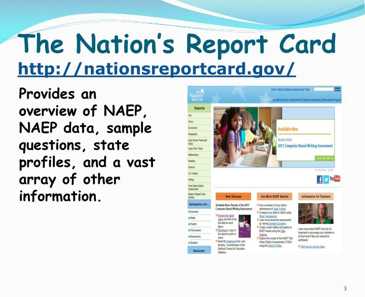 The nation s report card http nationsreportcard gov