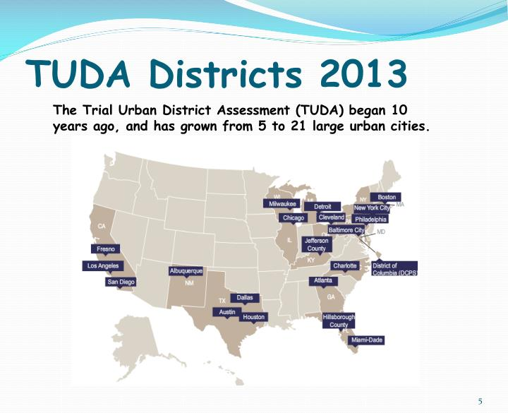 TUDA Districts 2013