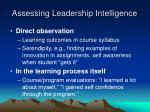 assessing leadership intelligence