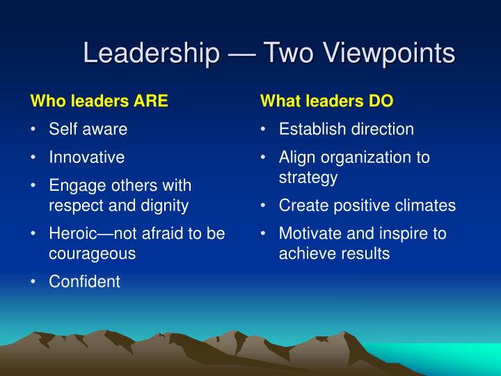 Who leaders ARE