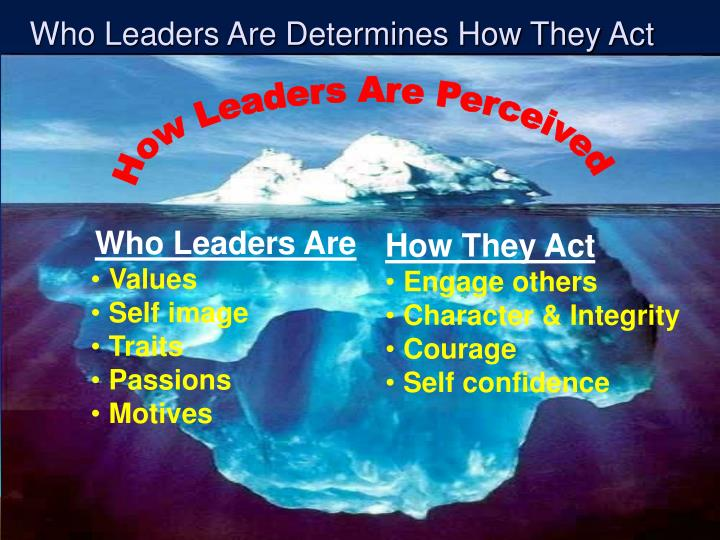 Who Leaders Are Determines How They Act