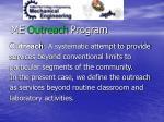 me outreach program