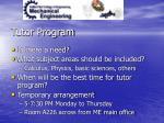 tutor program