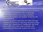 why outreach
