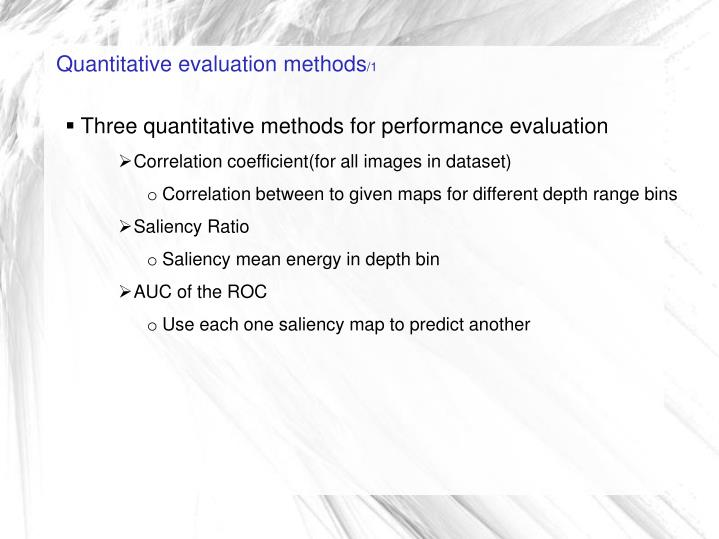 Quantitative evaluation methods