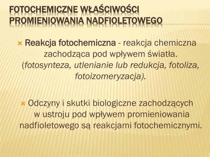 Reakcja fotochemiczna