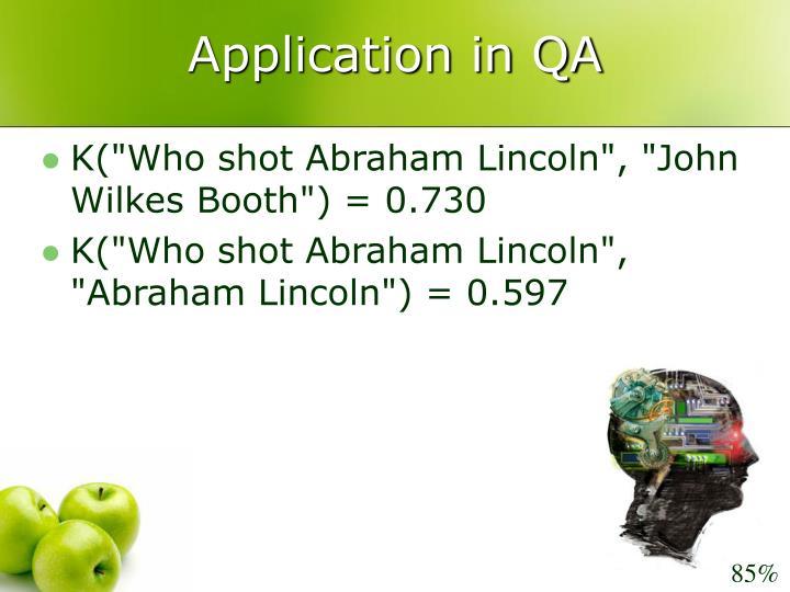 Application in QA