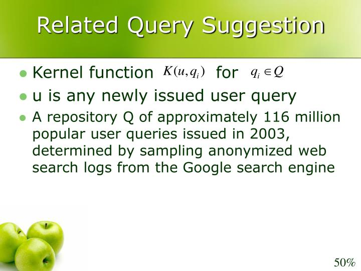 Related Query Suggestion