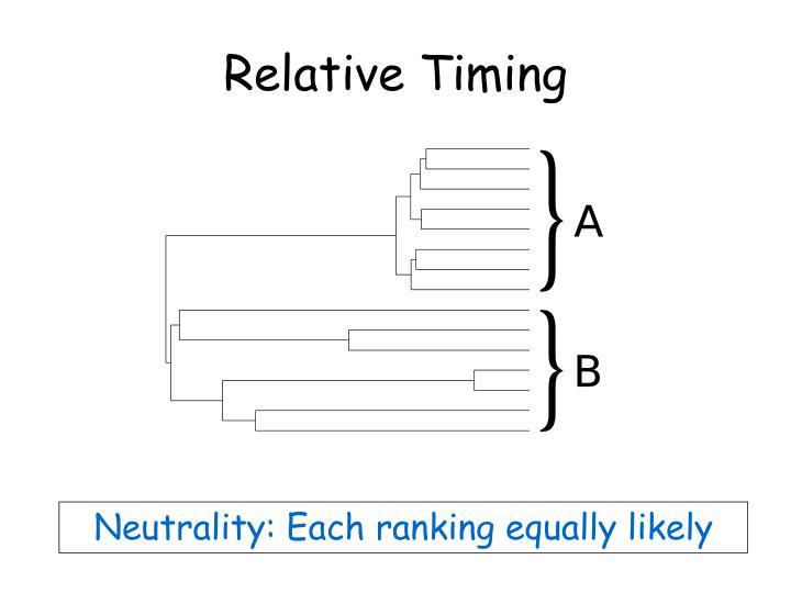 Relative Timing