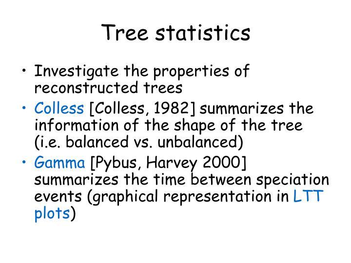Tree statistics