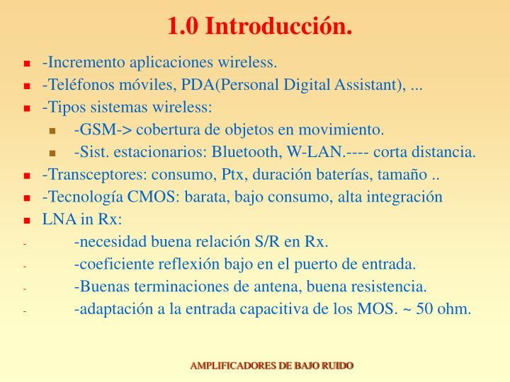 1.0 Introducción.