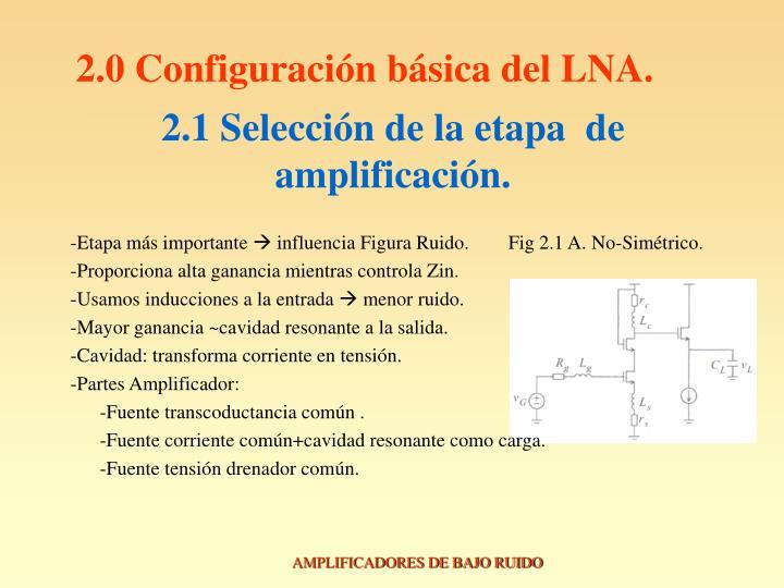 2.0 Configuración básica del LNA.
