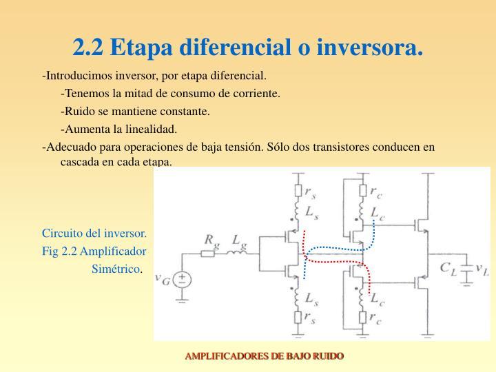 2.2 Etapa diferencial o inversora.