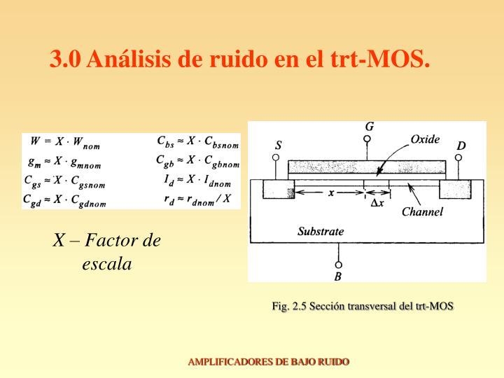 3.0 Análisis de ruido en el trt-MOS.