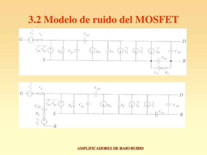 3.2 Modelo de ruido del MOSFET