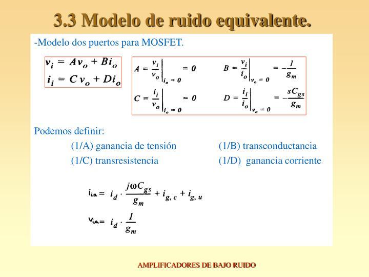 3.3 Modelo de ruido equivalente.