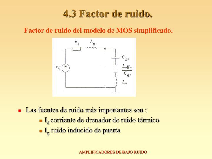 4.3 Factor de ruido.