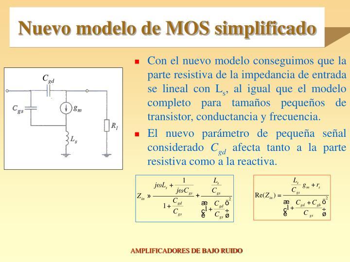 Nuevo modelo de MOS simplificado