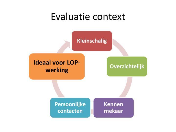 Evaluatie context