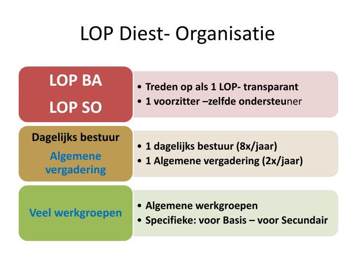 LOP Diest- Organisatie