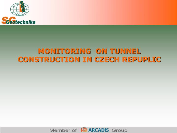 MONITORING  ON TUNNEL