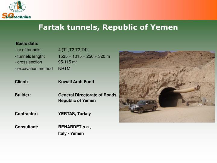 Fartak tunnels, Republic of Yemen
