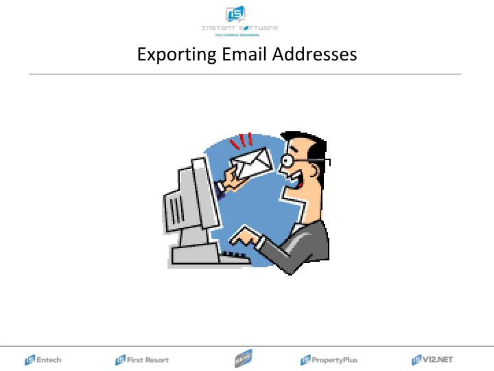 Exporting Email Addresses