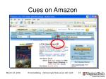 cues on amazon
