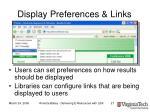 display preferences links