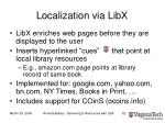 localization via libx