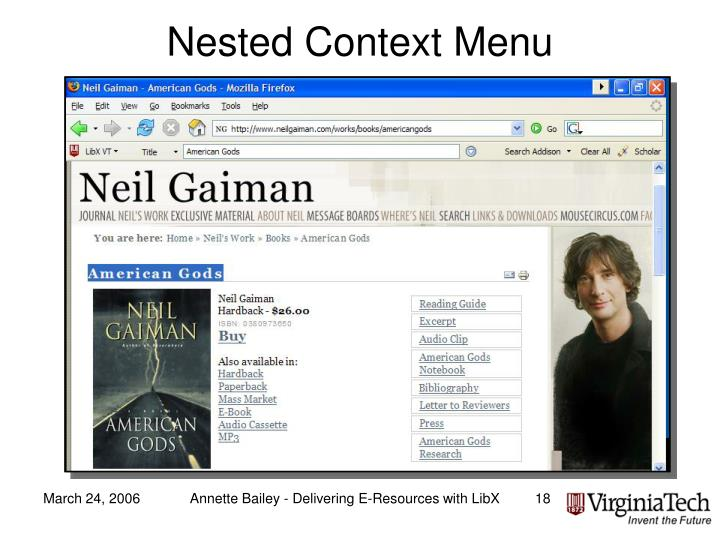 Nested Context Menu