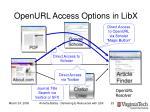 openurl access options in libx