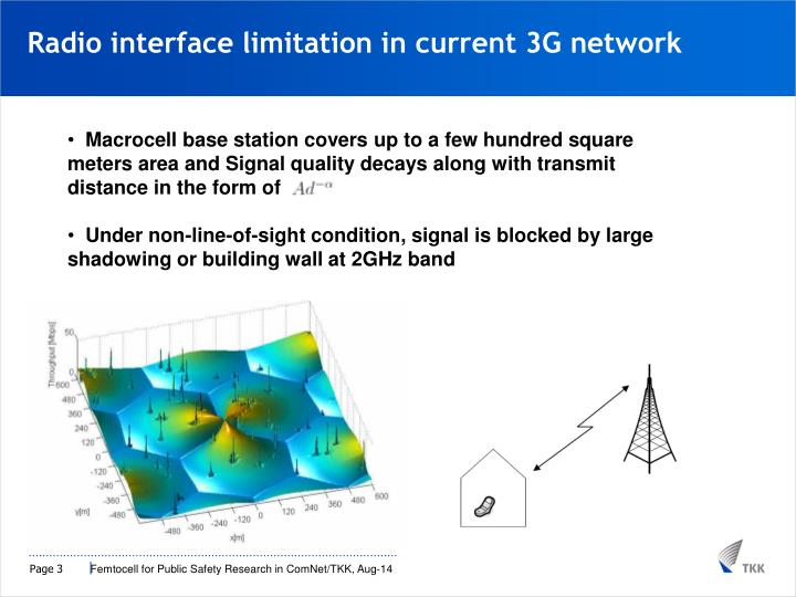 Radio interface limitation in current 3G network