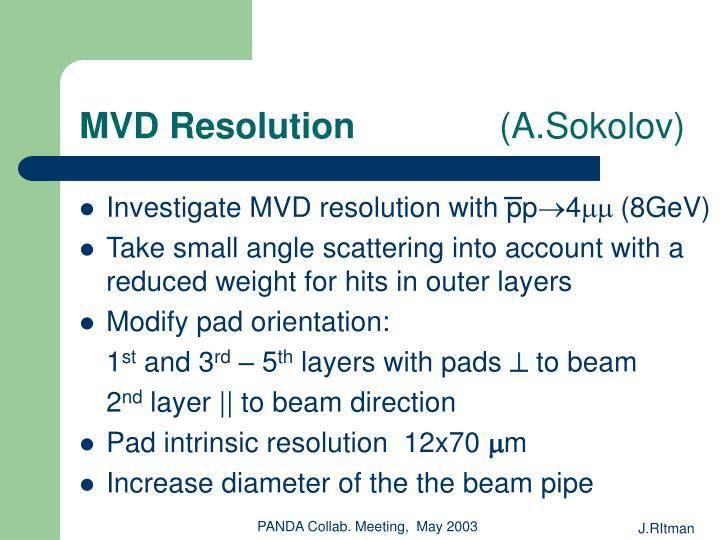 MVD Resolution