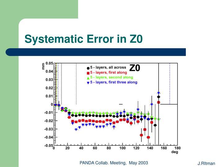 Systematic Error in Z0