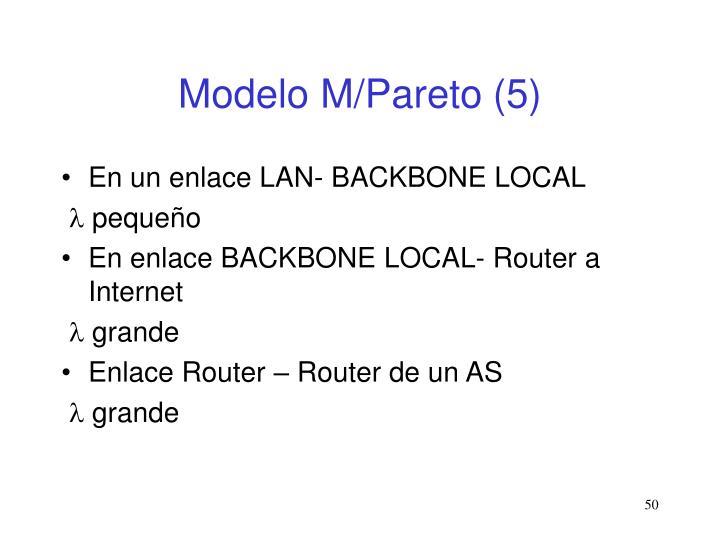 Modelo M/Pareto
