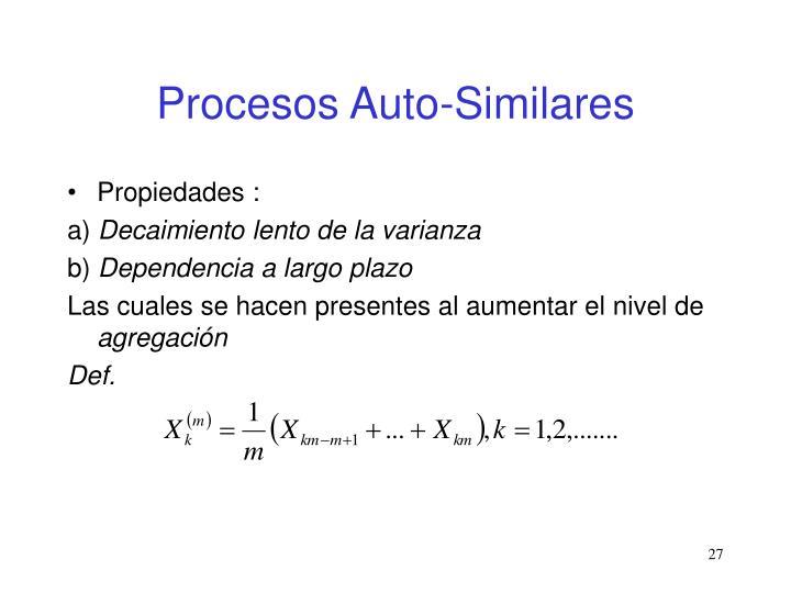 Procesos Auto-Similares